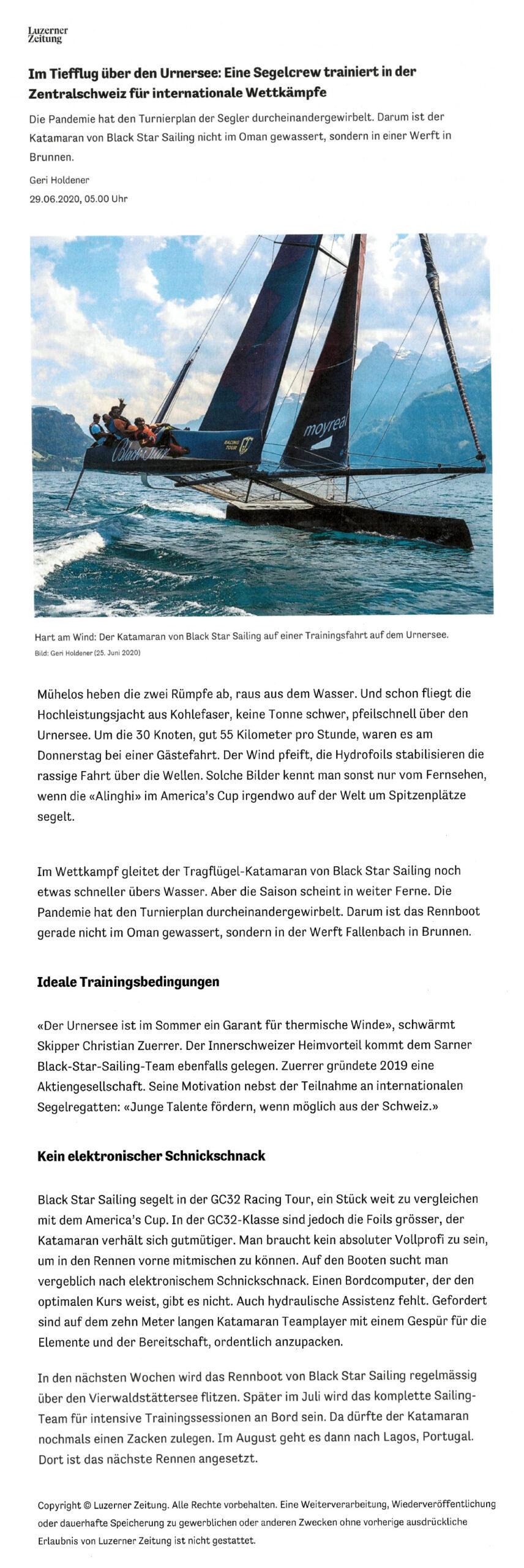 2020-06-29 Luzerner Zeitung ONLINE